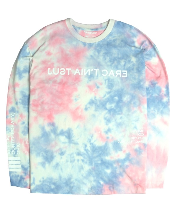 언바인드 Long sleeve Shirts / TIE DYE PINK/BLUE