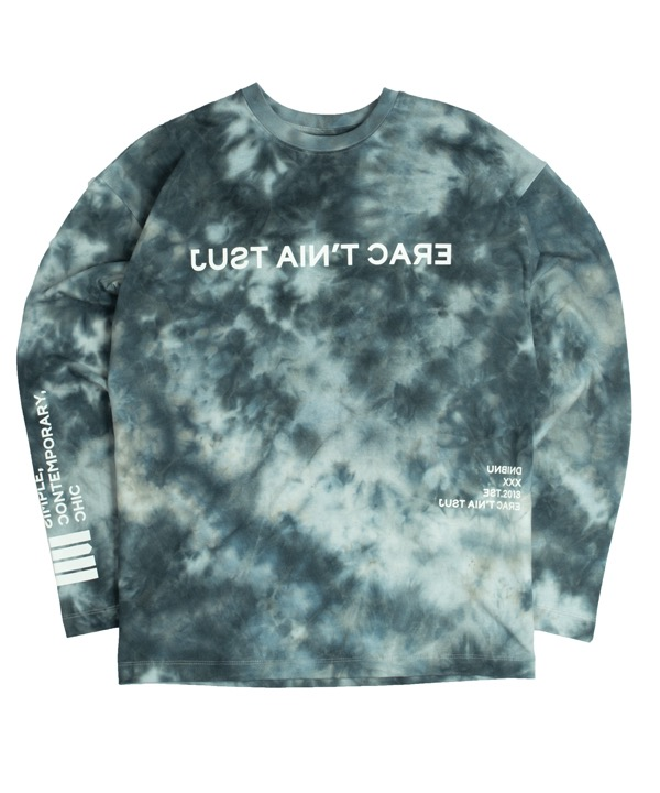 언바인드 Long sleeve Shirts / TIE DYE STONE GREY